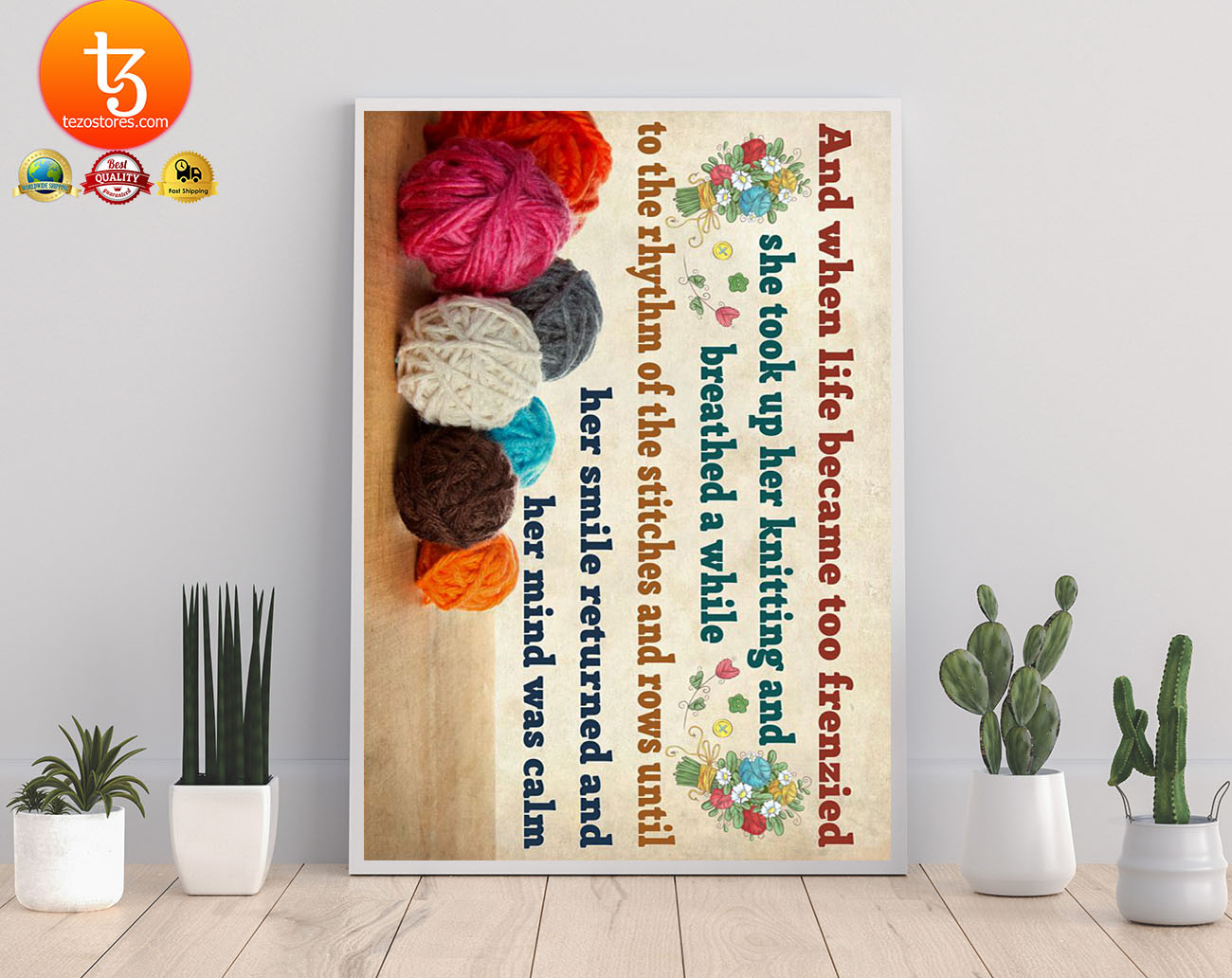 Crochet and knitting and when life became too frenzied poster 17