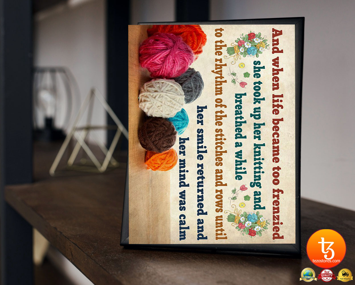 Crochet and knitting and when life became too frenzied poster 21