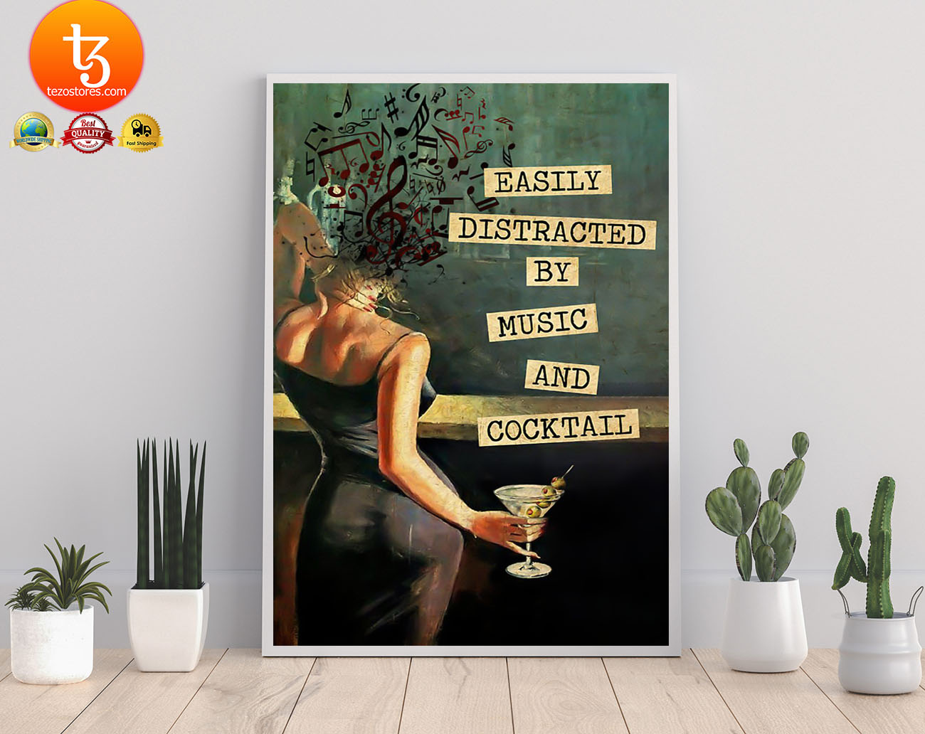 Easily distracted by music and cocktail poster 21