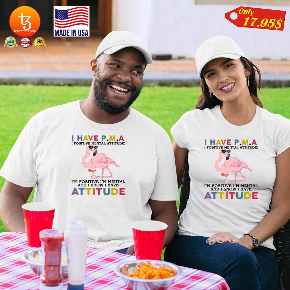 Flamingo I have PMA positive mental attitude Shirt 21
