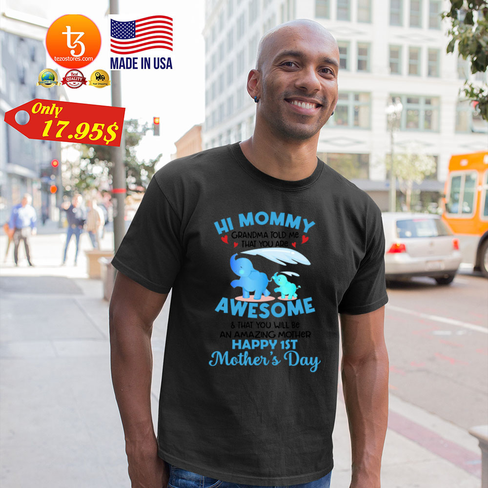 Hi mommy Grandma told me that you are awesome Shirt 25