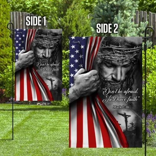 Jesus christian don't be afraid flag
