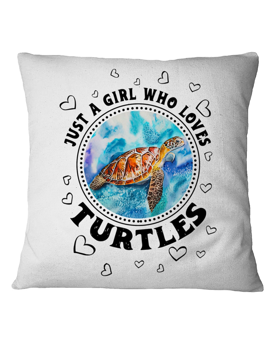Just a girl who loves turtle pilow 3