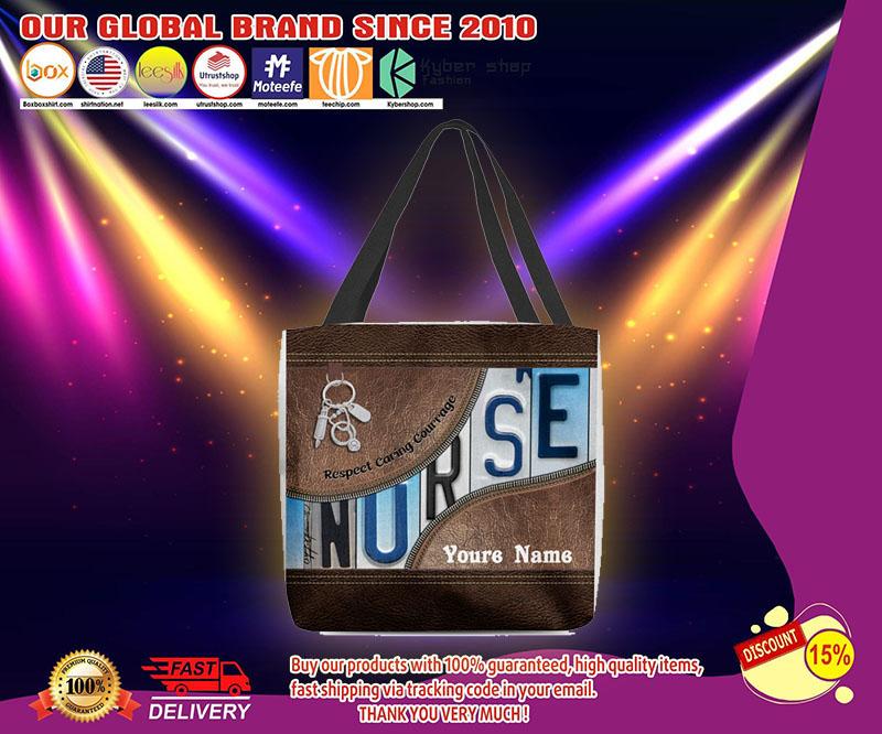 Nurse respect caring courage tote bag 21