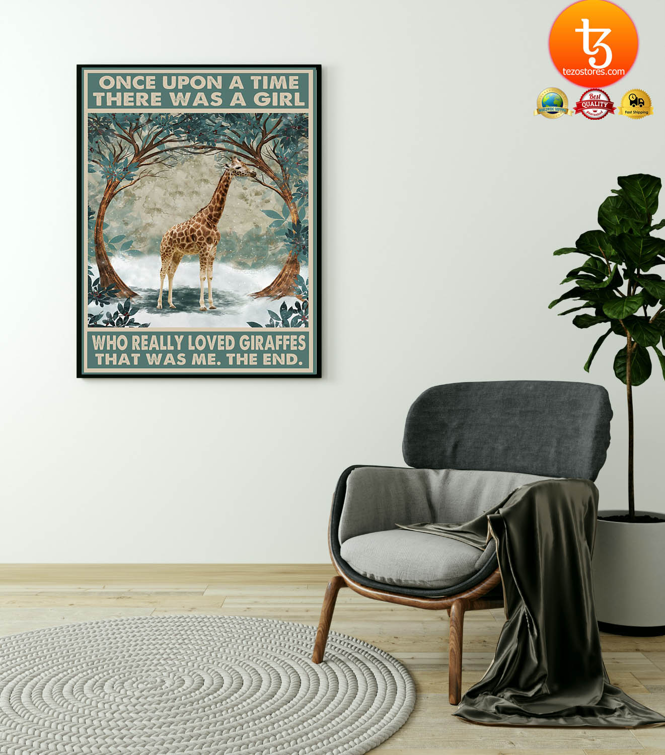 Once upon a time there was a girl who really loved giraffes poster 19
