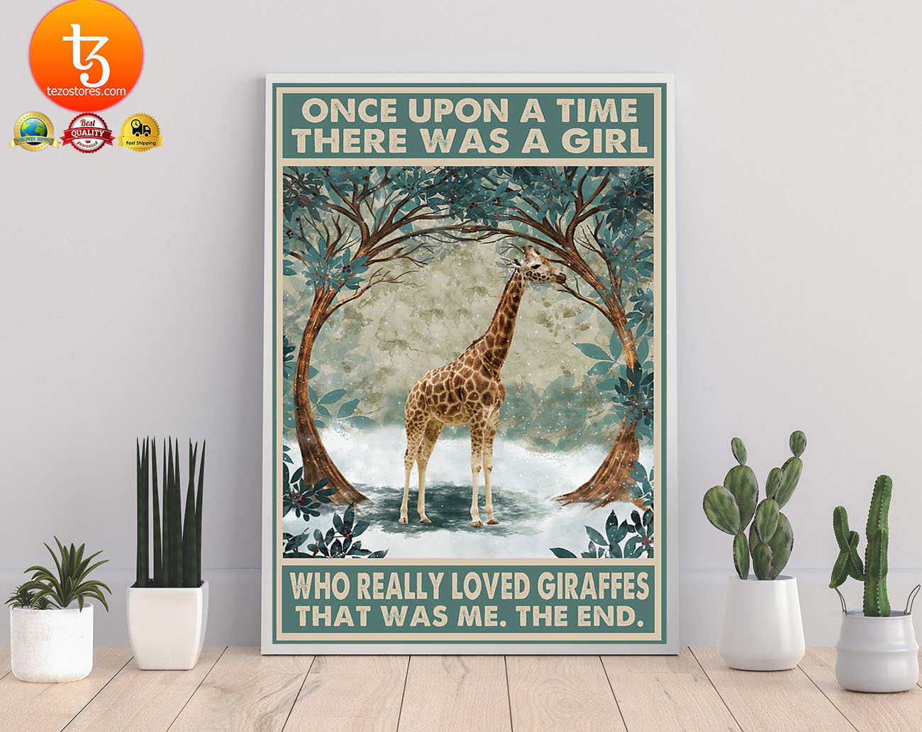 Once upon a time there was a girl who really loved giraffes poster 21