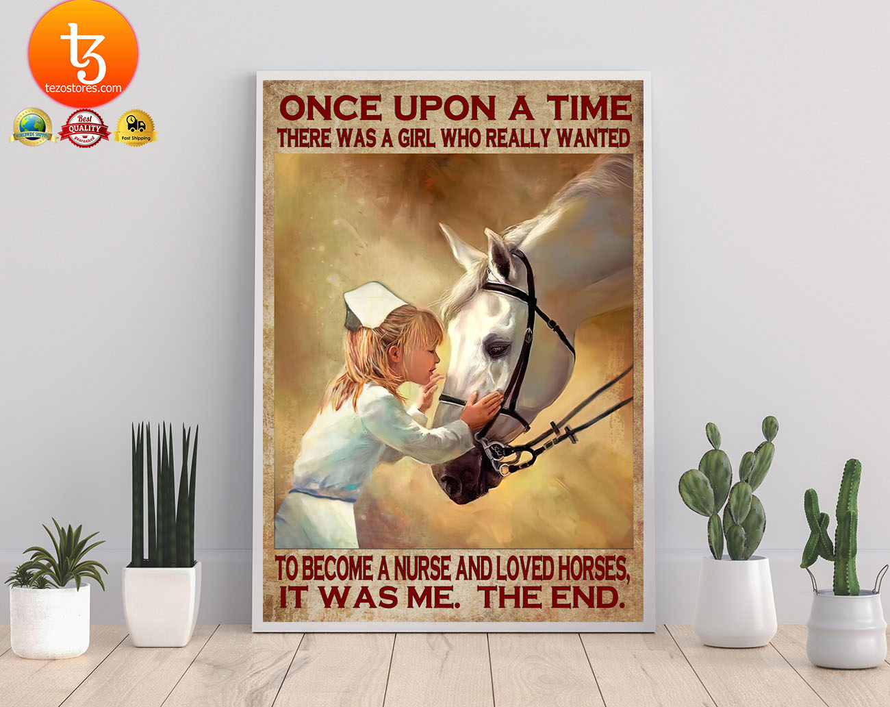 Once upon a time there was a girl who really wanted to become a nurse and loved horses poster 21