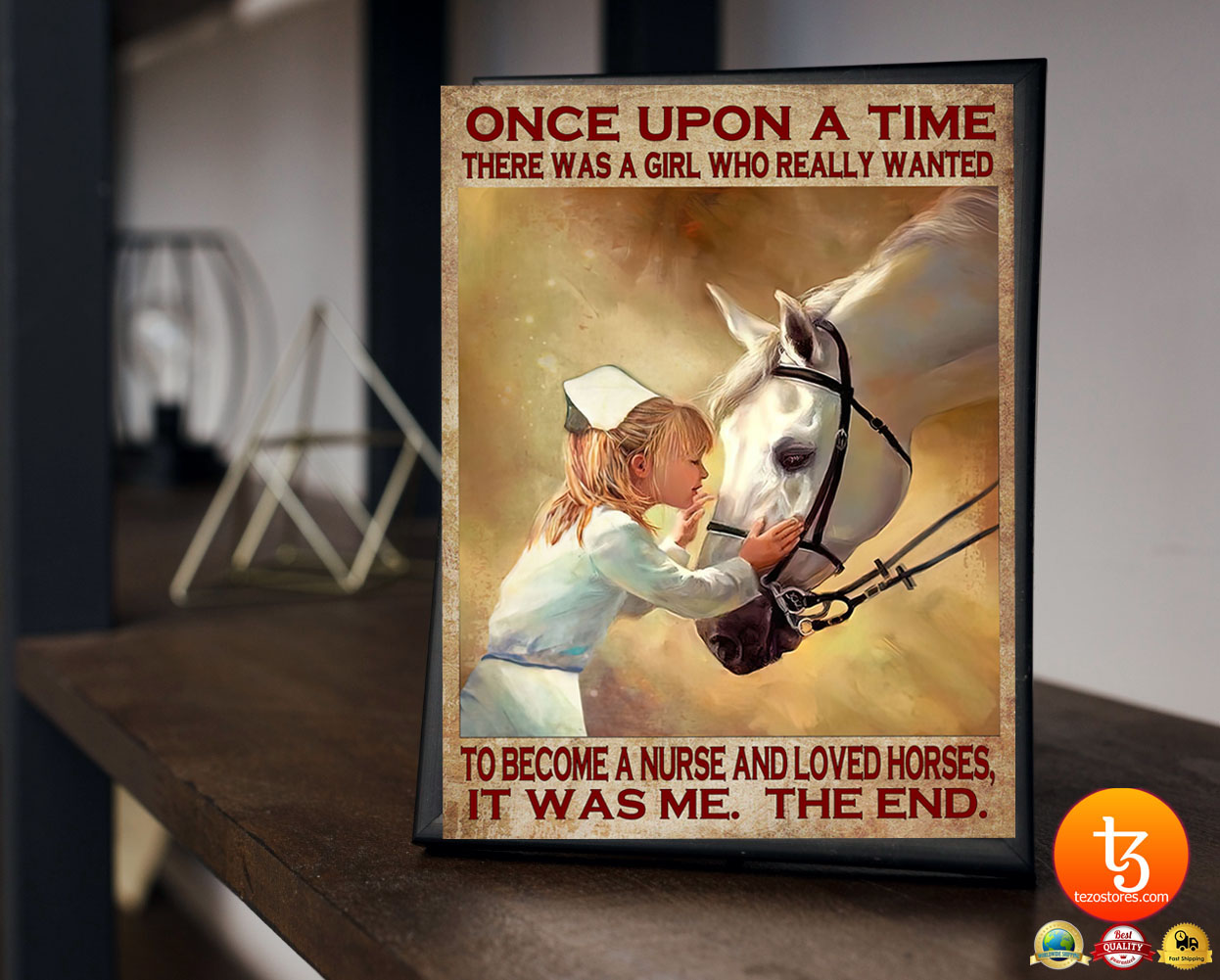 Once upon a time there was a girl who really wanted to become a nurse and loved horses poster 19