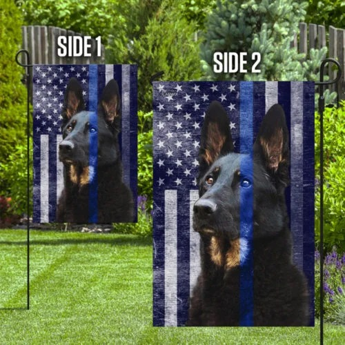 Police dog the thin blue flag