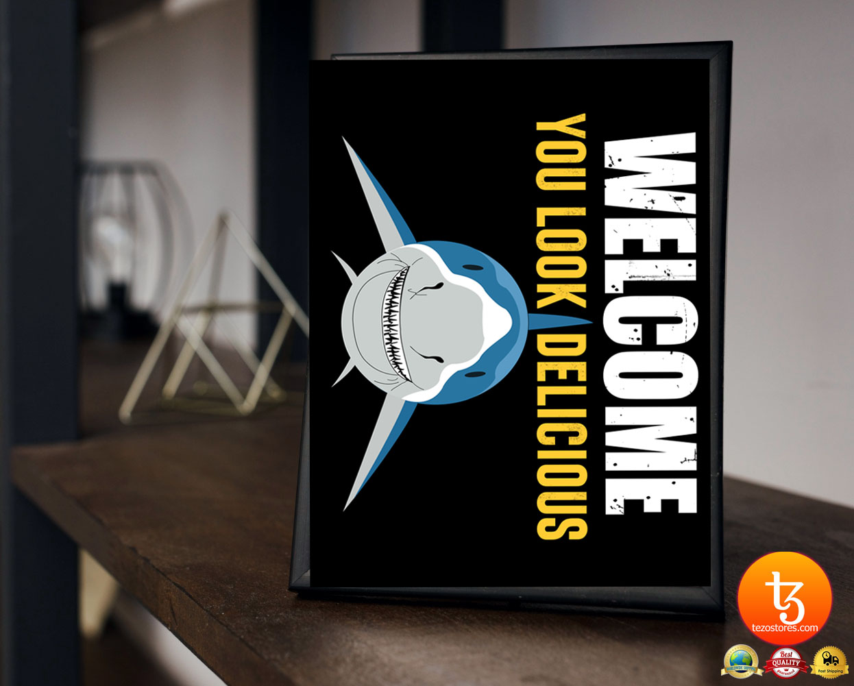Shark welcome you look delicious doormat 21