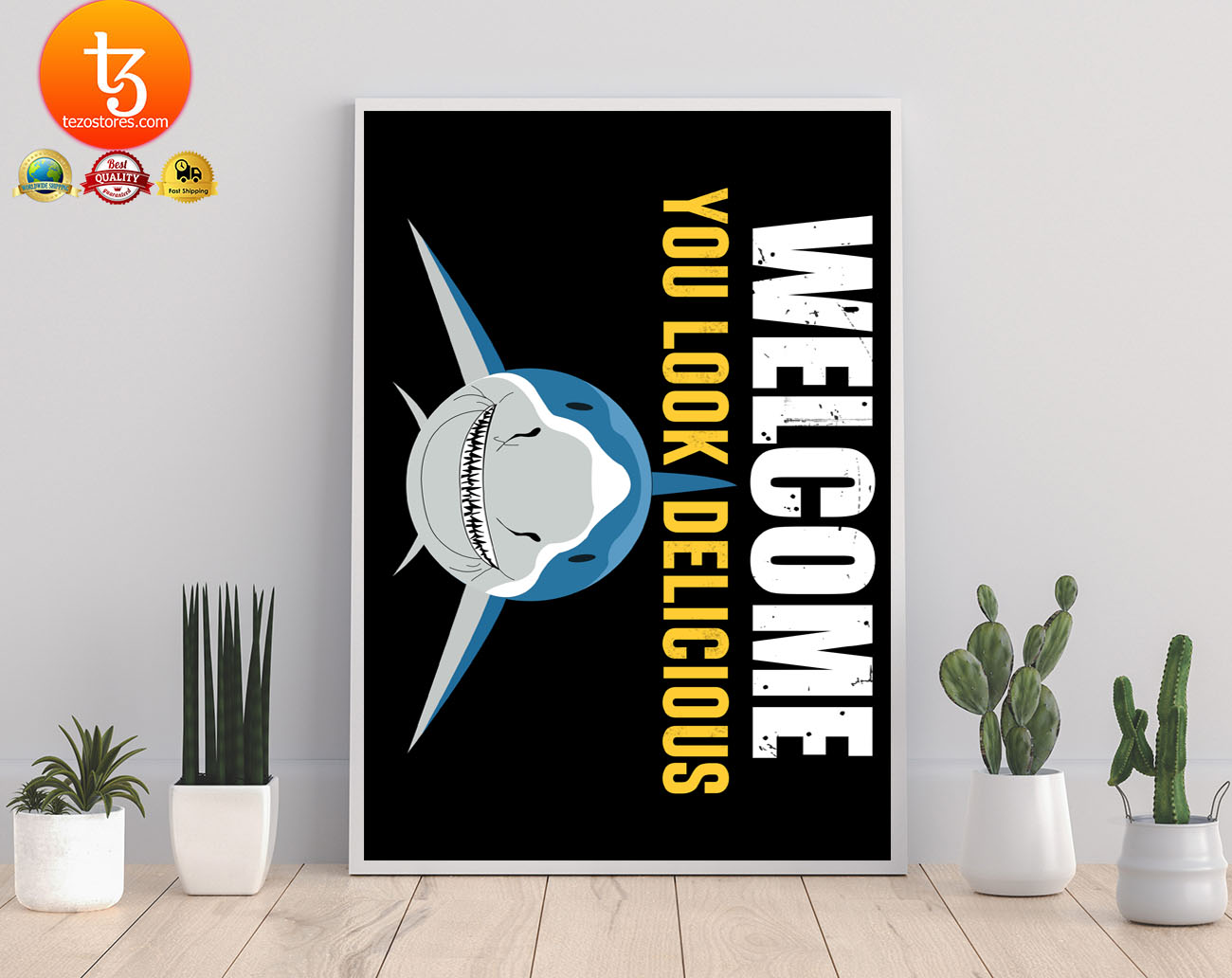 Shark welcome you look delicious doormat 19