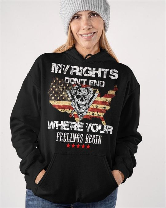 Skull My Rights Don't end Where Your Feelings Begin Shirt 3