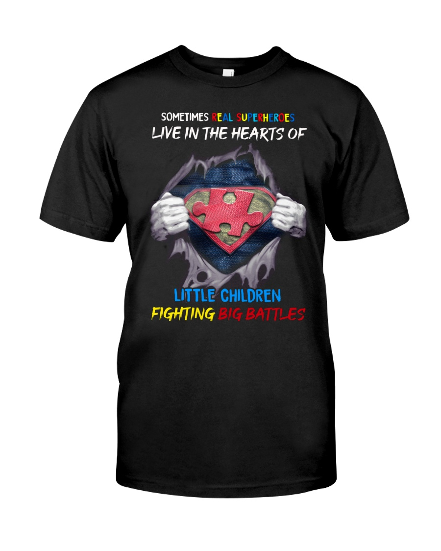 Sometimes Real Super heroes Live In The Hearts Of Little Children Shirt 23