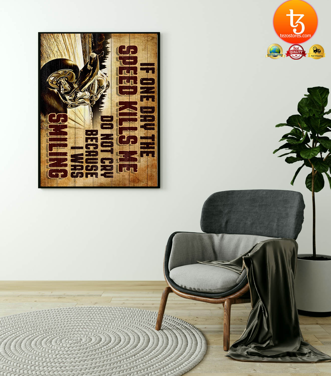 Superbike if one day the speed kills me do not cry because i was smiling poster 23