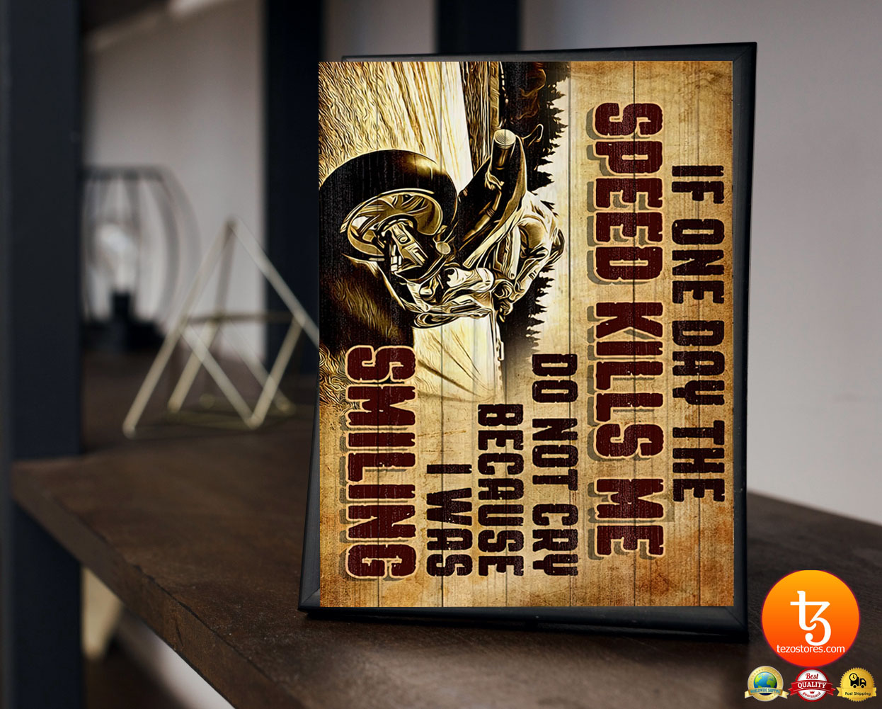 Superbike if one day the speed kills me do not cry because i was smiling poster 21