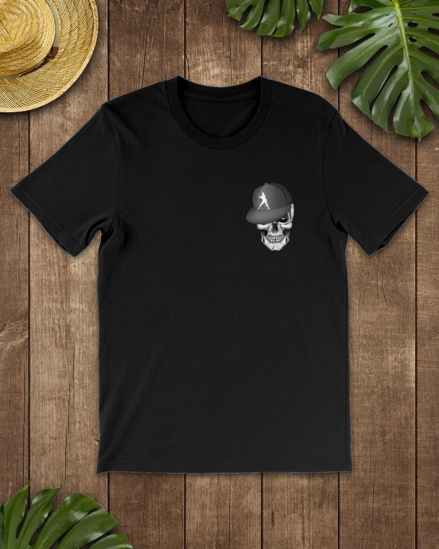 The Skeleton Is Playing Baseball Shirt 21