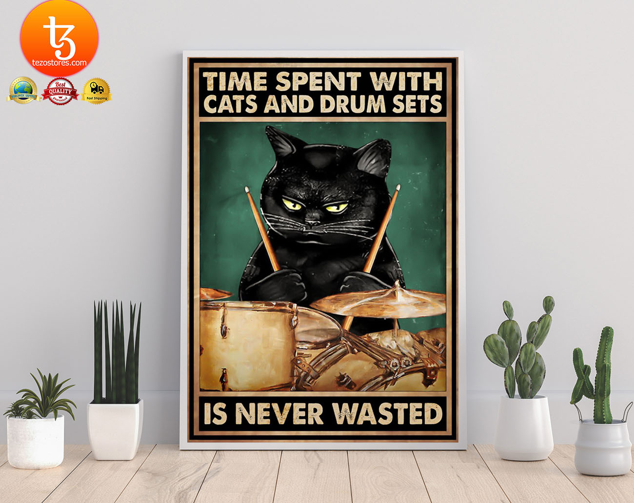 Time spent with cats and drum sets is never wasted poster 19