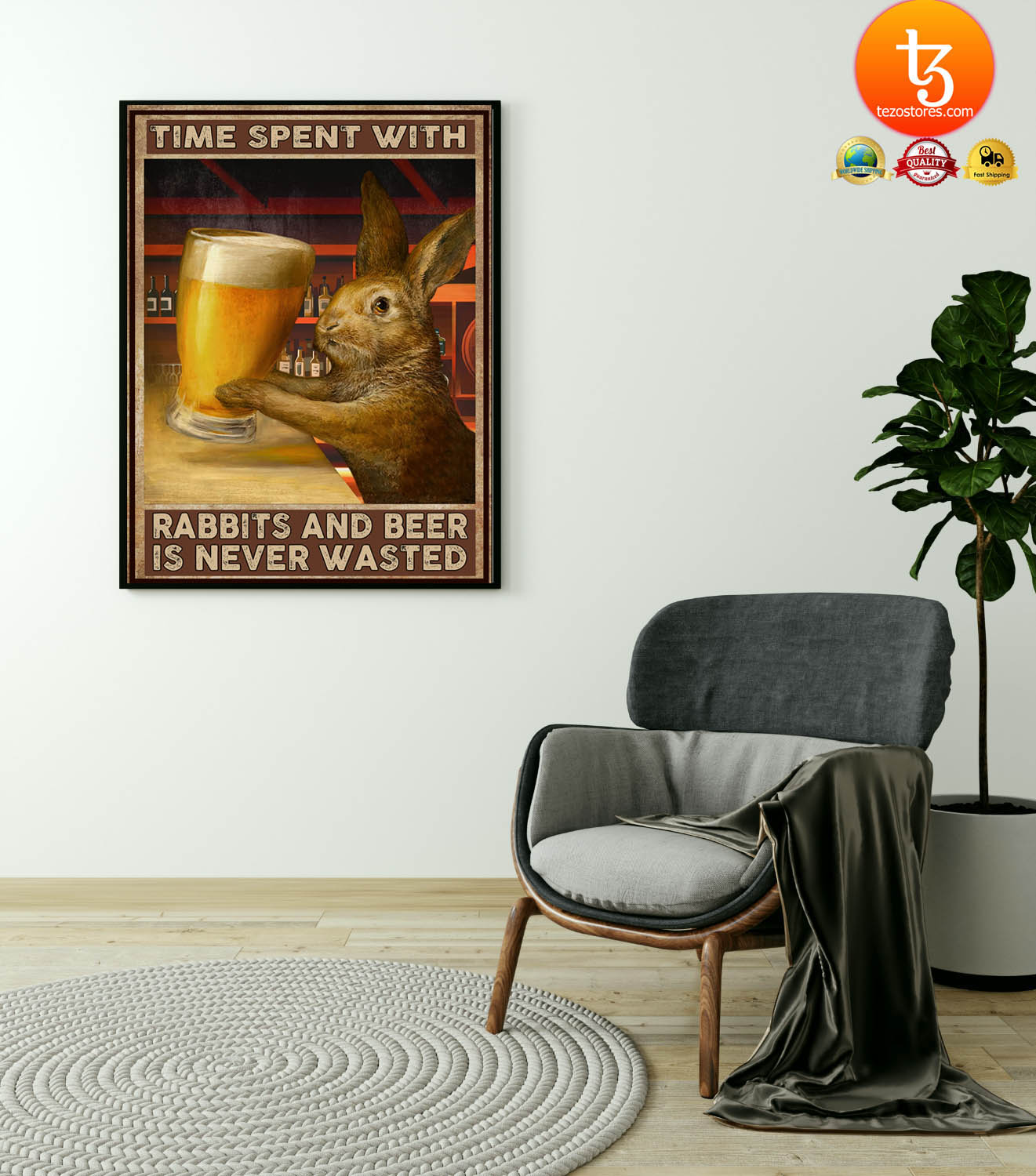 Time spent with rabbits and beer is never wasted poster 23