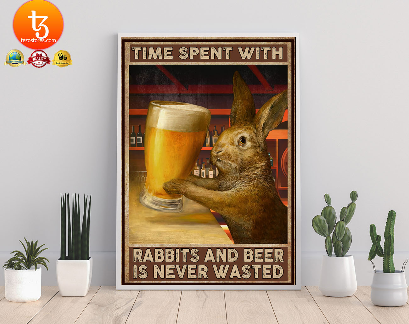 Time spent with rabbits and beer is never wasted poster 21