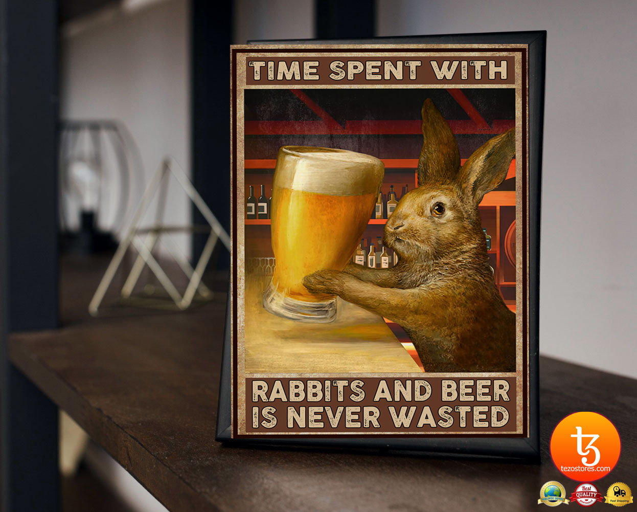 Time spent with rabbits and beer is never wasted poster 19