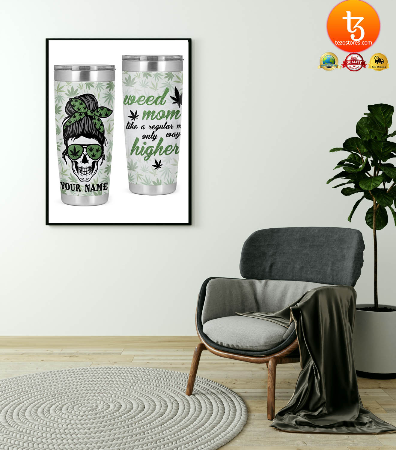 Weed mom like a regular mom only way higher custom name tumbler 17