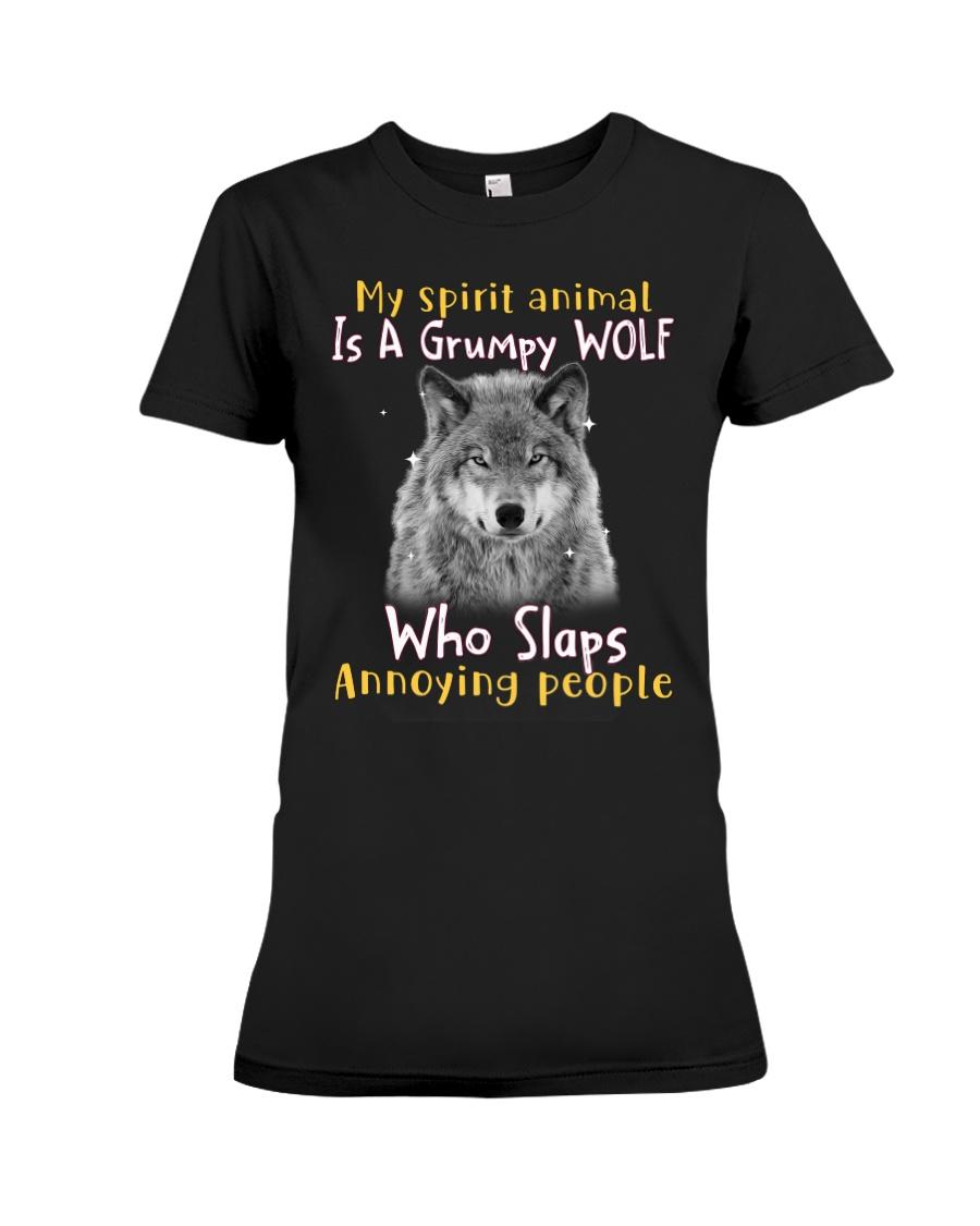 Wolf My Spirit Animal Is A Grumpy Wolf Who Slaps Annoying People Shirt 19