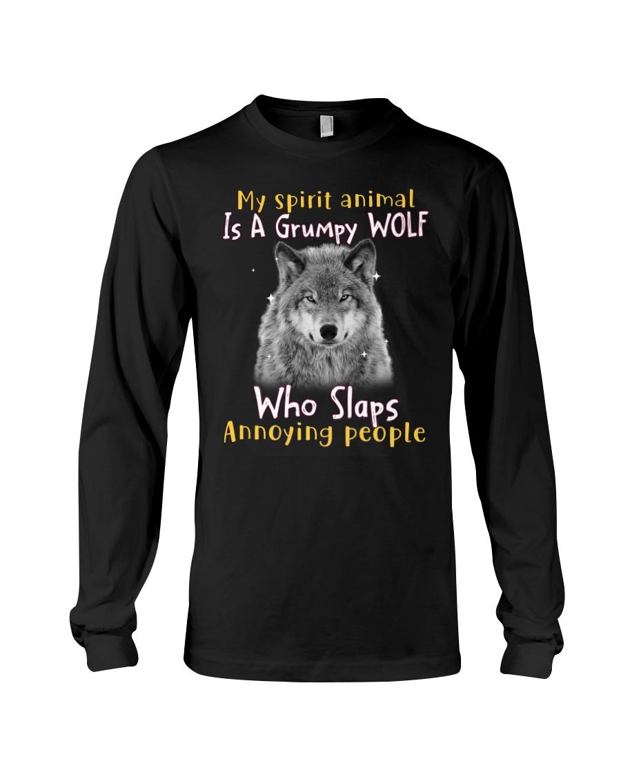 Wolf My Spirit Animal Is A Grumpy Wolf Who Slaps Annoying People Shirt 23