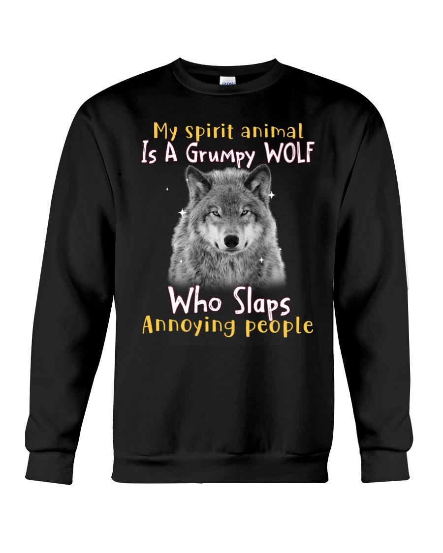 Wolf My Spirit Animal Is A Grumpy Wolf Who Slaps Annoying People Shirt 25