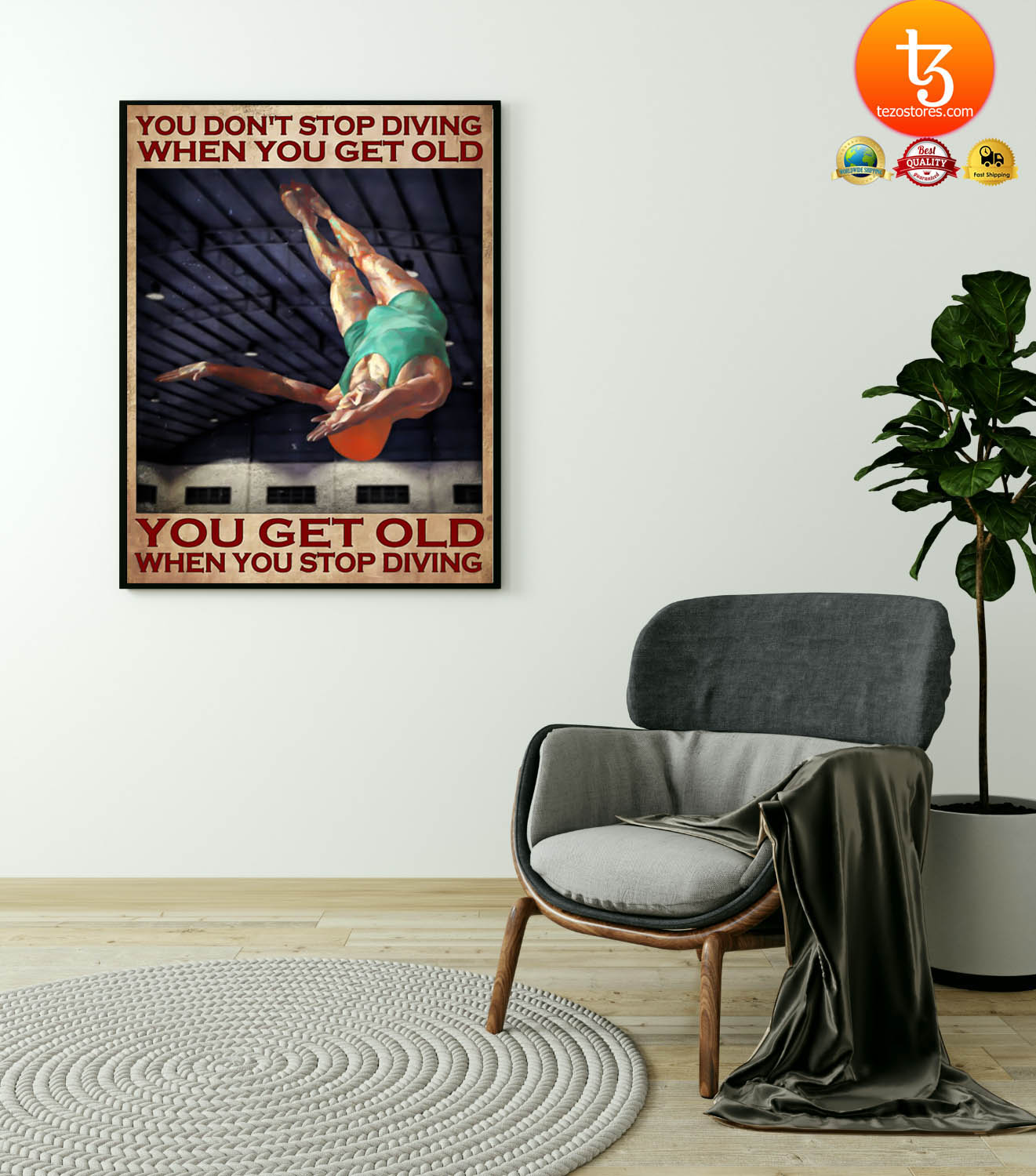 You don't stop diving when you get old poster 19