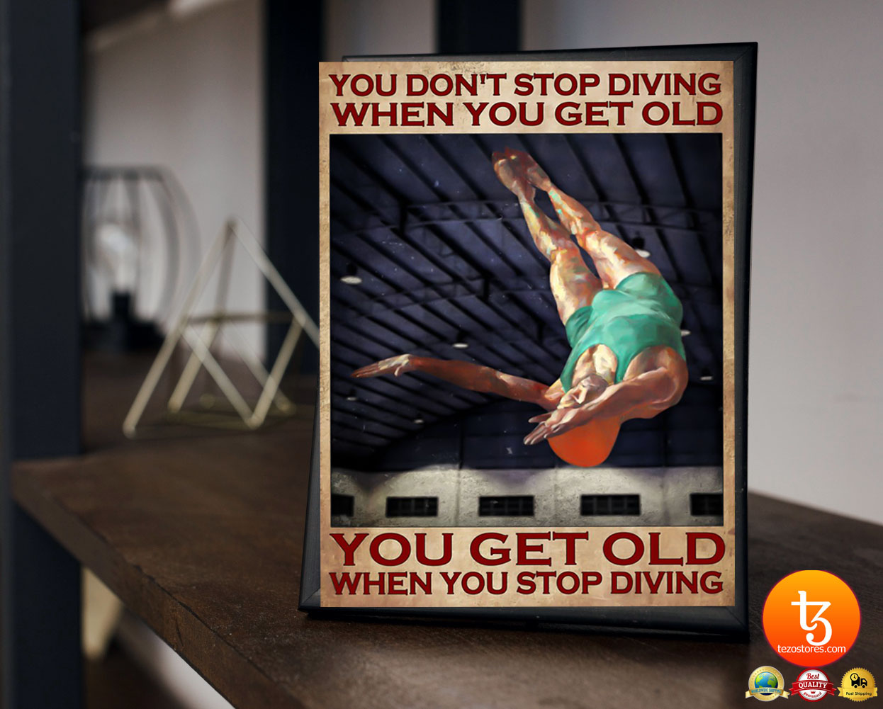 You don't stop diving when you get old poster 23