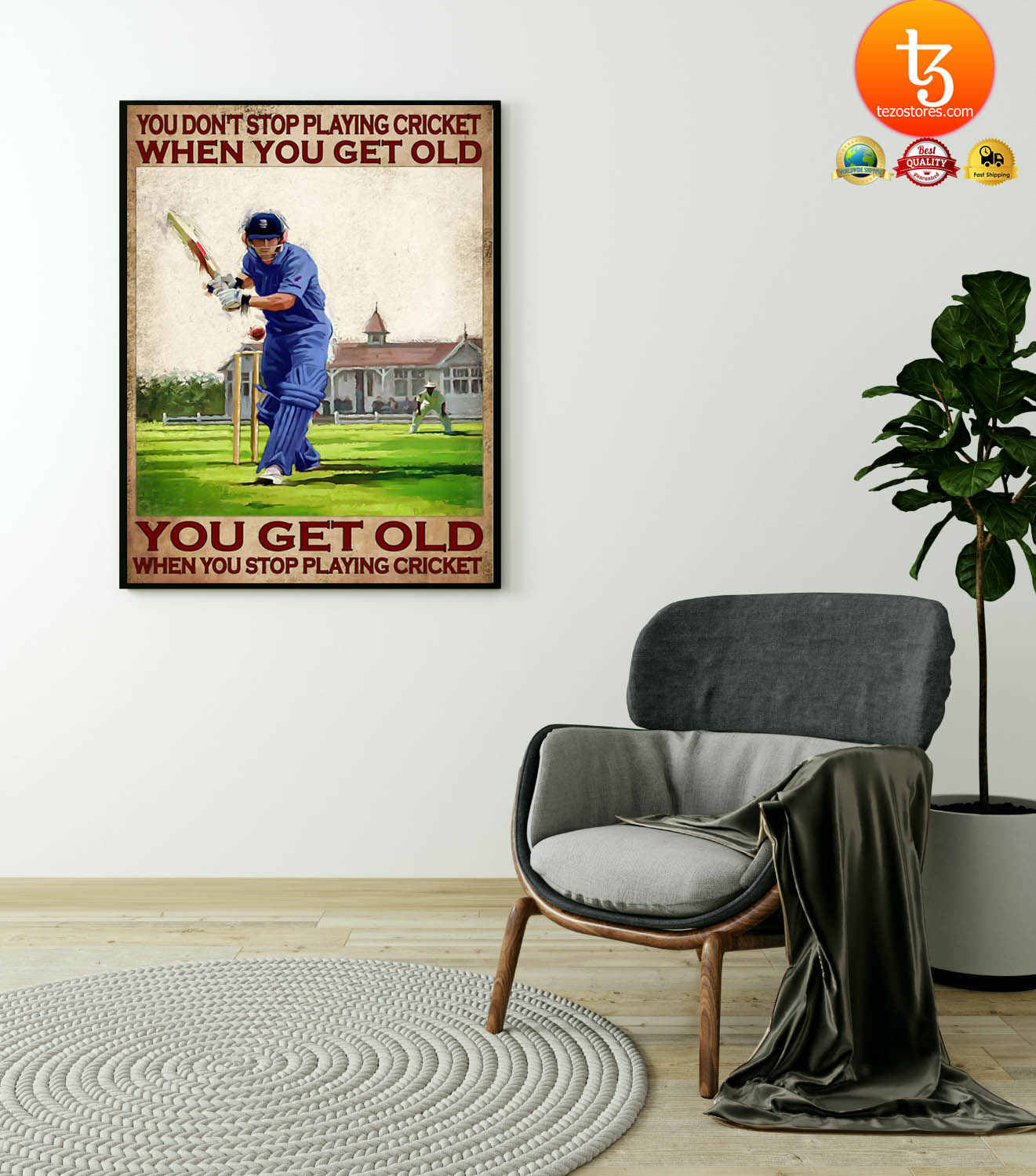You don't stop playing cricket when you get old poster 19