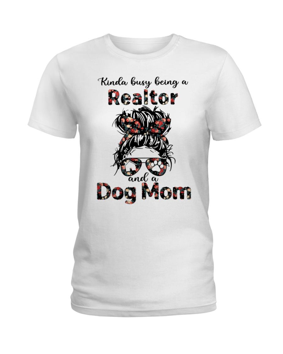 Kinda Busy Being A Realtor And A Dog Mom Shirt 2
