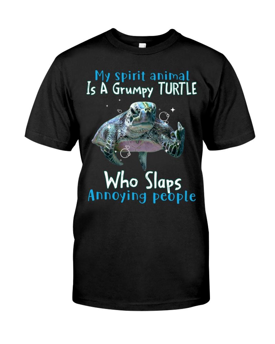 Turtle My spirit animal is a grumpy Turtle who slaps annoying people Shirt 25