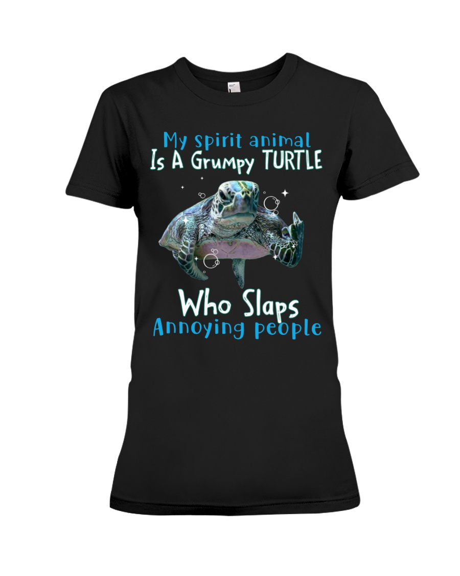 Turtle My spirit animal is a grumpy Turtle who slaps annoying people Shirt 23