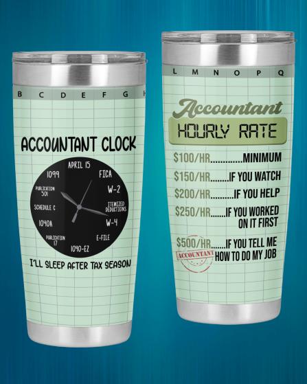 Accountant Hourly Rate Accountant Clock Tumbler3 1