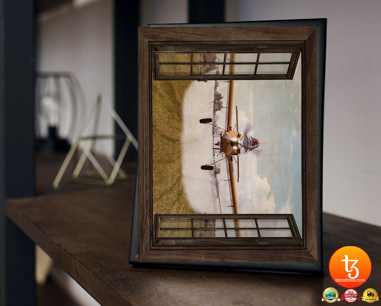 Agricultural aircraft window view poster 2