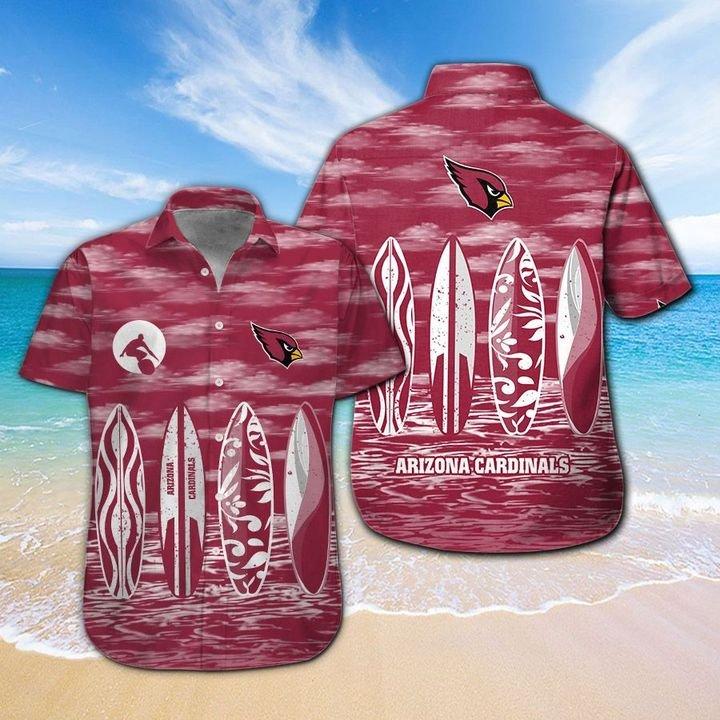 Arizona Cardinals Hawaiian shirt And Beach SHORT 5