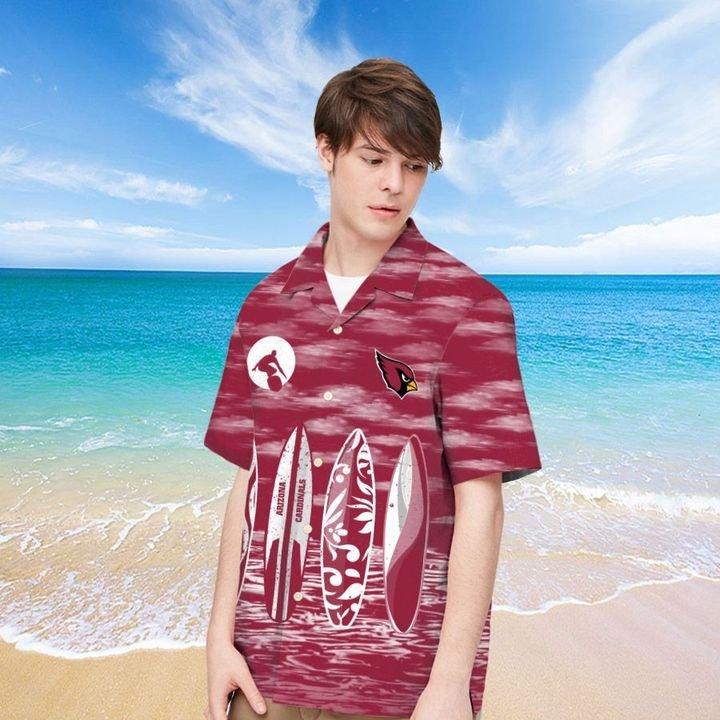 Arizona Cardinals Hawaiian shirt And Beach SHORT 4