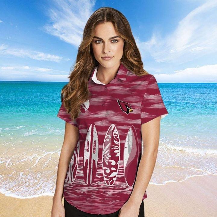 Arizona Cardinals Hawaiian shirt And Beach SHORT 1
