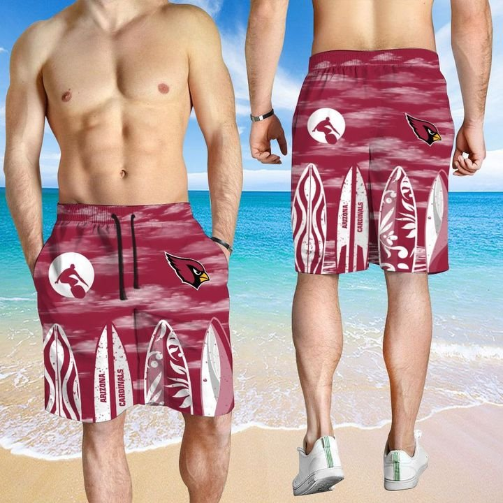 Arizona Cardinals Hawaiian shirt And Beach SHORT 2