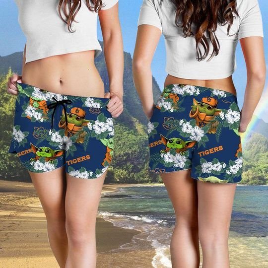 Auburn Tigers And Yoda Hawaiian And Beach Short 2