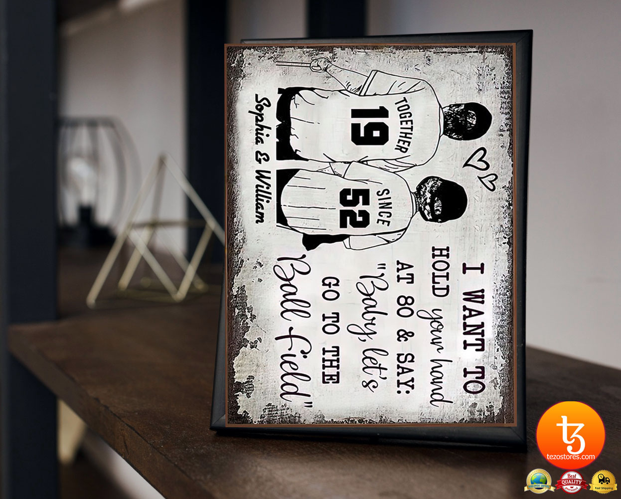 Baseball I want to hold your hand at 80 and say baby let's go to the ball field poster 21
