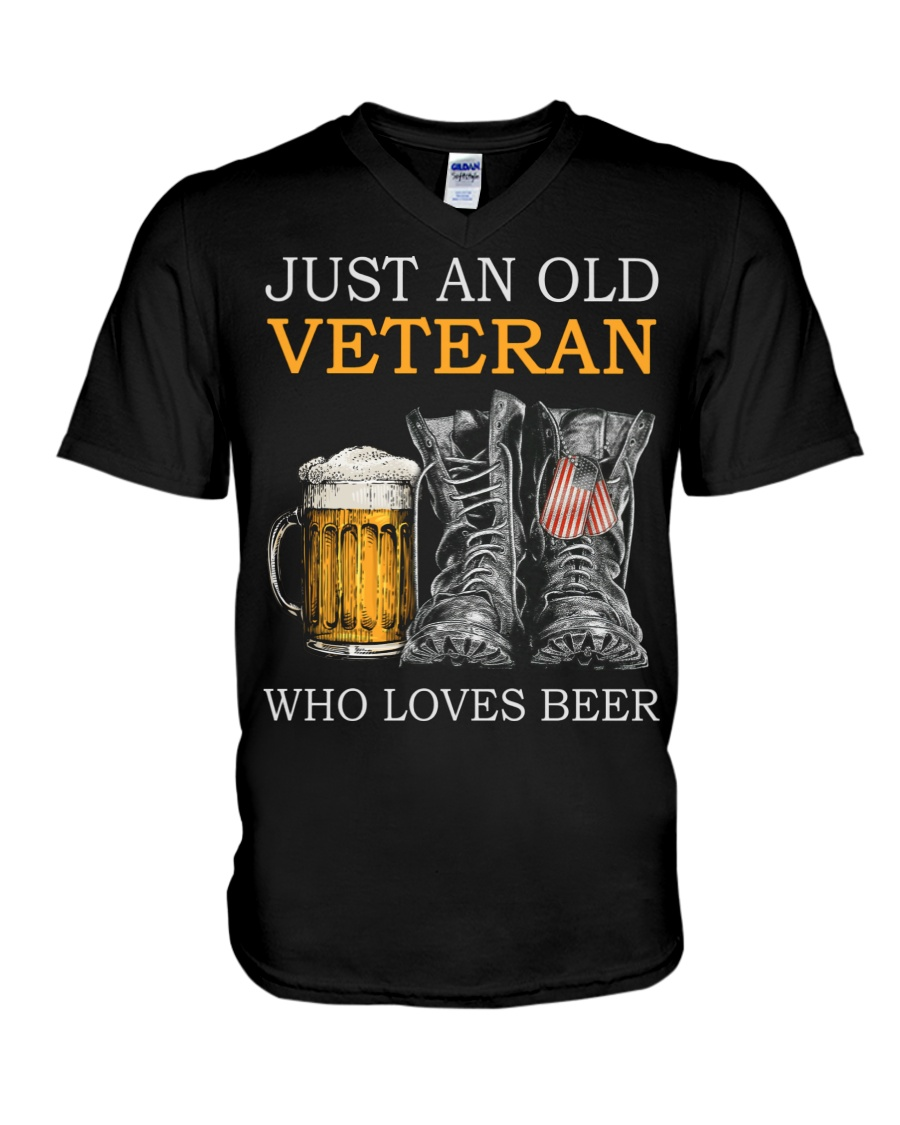 Beer and Shoes Just An Old Veteran Who Loves Beer Shirt 21