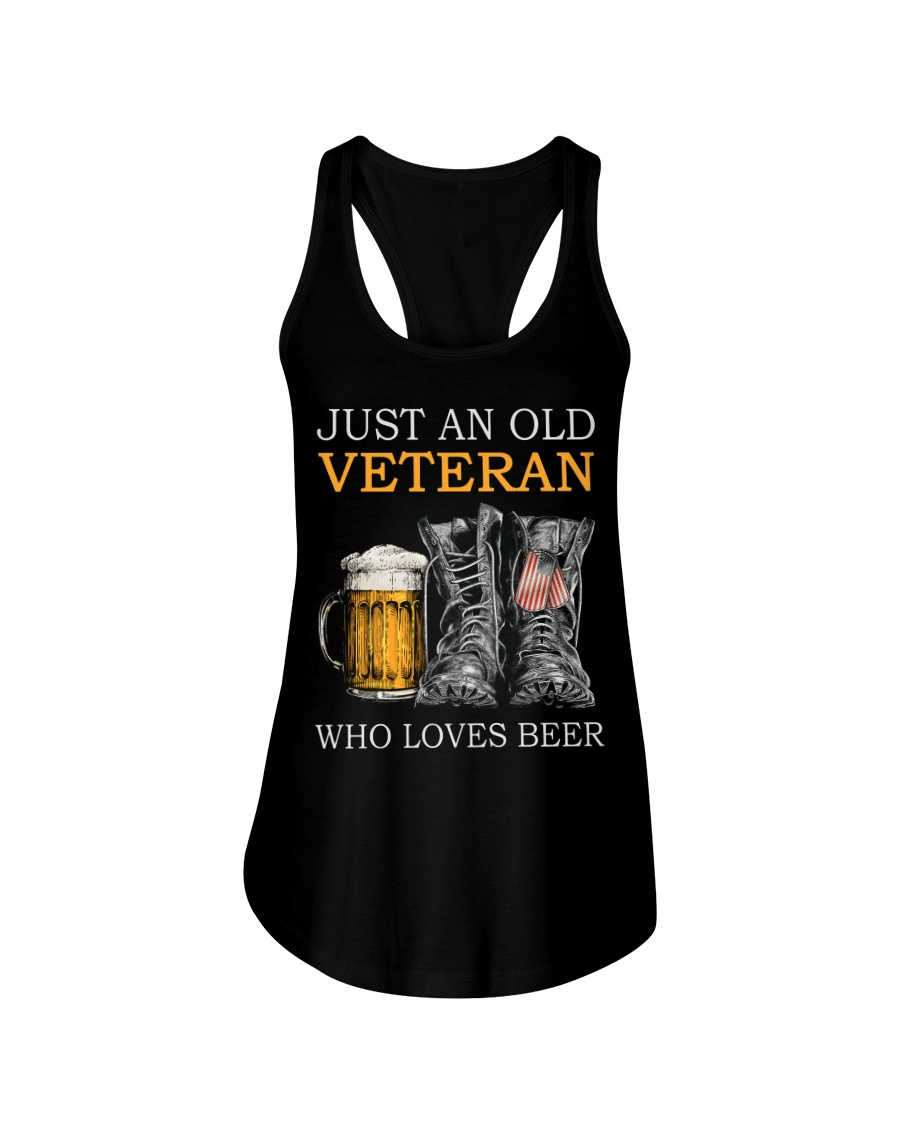 Beer and Shoes Just An Old Veteran Who Loves Beer Shirt 25