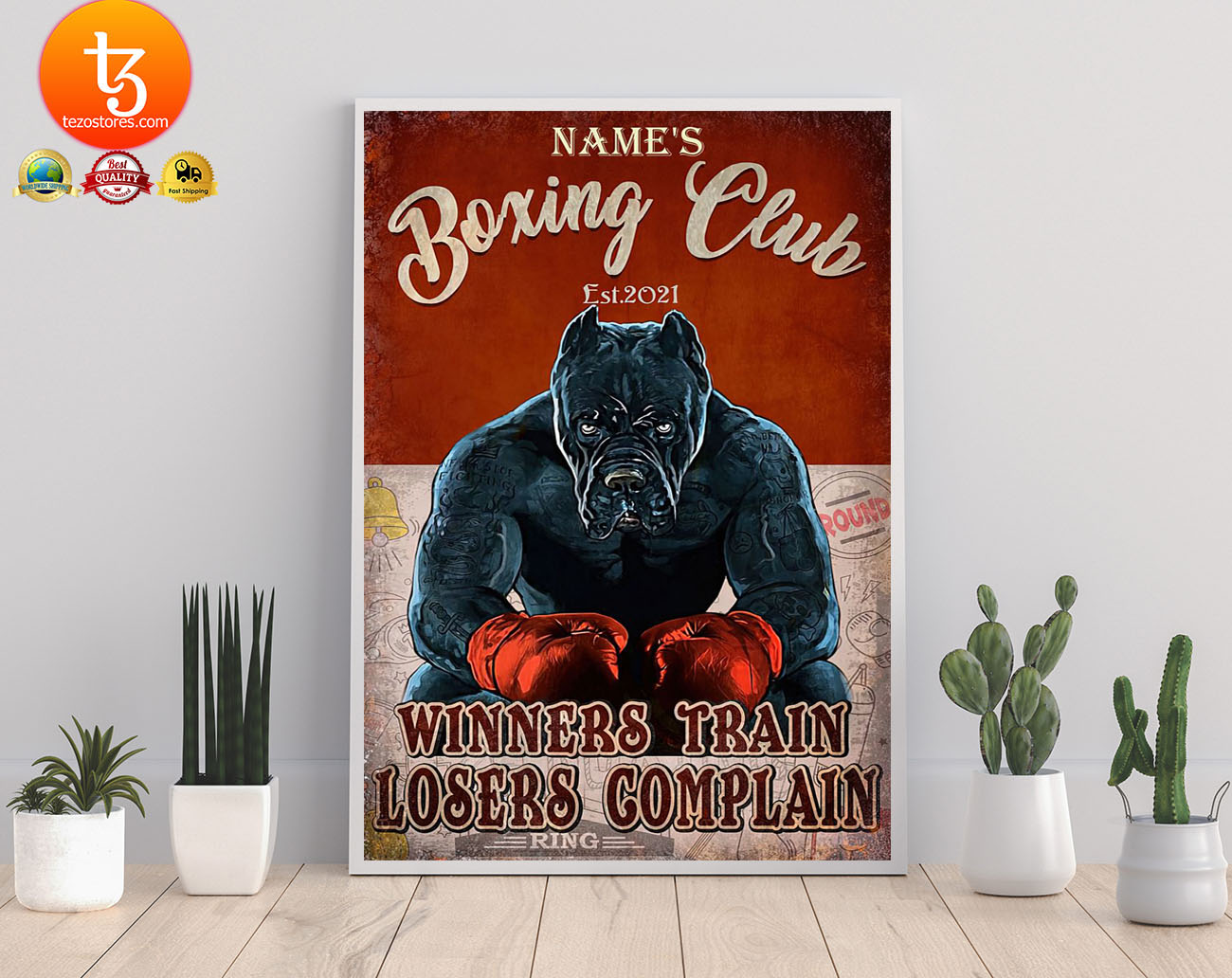 Boxing club winners train losers complain poster 3