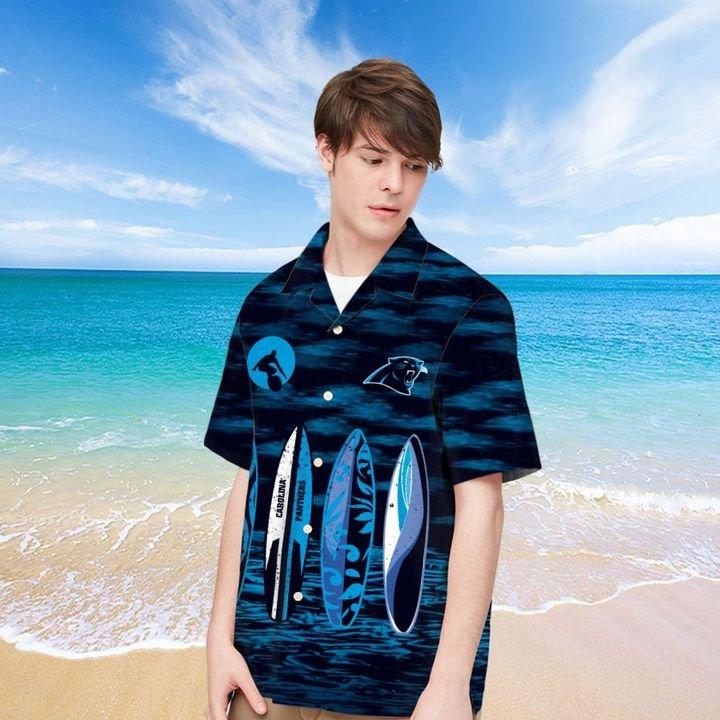 Carolina Panthers Hawaiian shirt And Beach SHORT 5