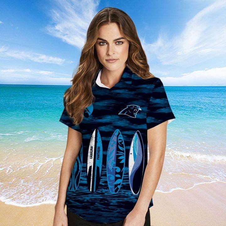 Carolina Panthers Hawaiian shirt And Beach SHORT 4