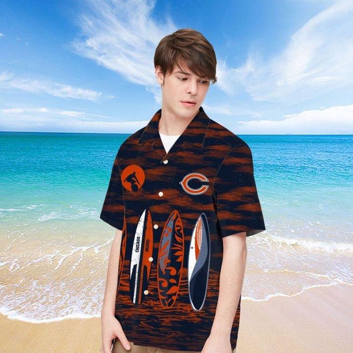 Chicago Bears Hawaiian shirt And Beach SHORT 2