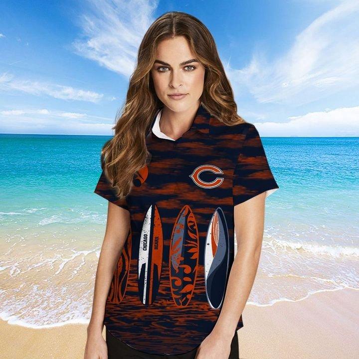 Chicago Bears Hawaiian shirt And Beach SHORT 3