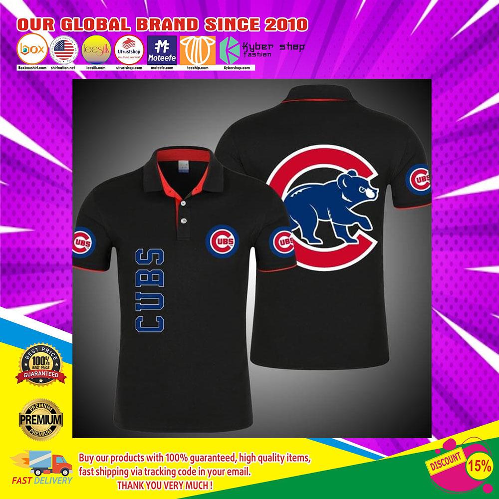 Chicago Cubs bears 3d polo shirt4